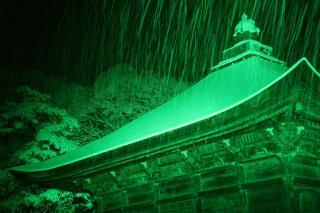 善光寺経堂のライトアップ 2007/2/15